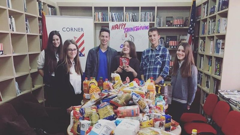 Thanksgiving food drive for the elderly in Vlore, Albania
