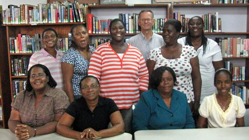 Clifford with National Library of Antigua & Barbuda staff, 2009