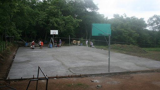 Completed multi-use court the community built with support from the high school, 50+ local volunteers and a group of 20 Court