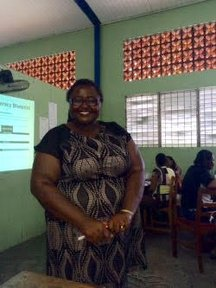 I conducted professional development sessions for teachers all over the island. Here I was asked to present at one school on the balanced literacy approach.