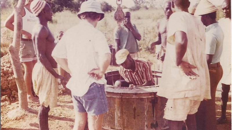 A well being constructed in Burkina Faso in the mid-1970s.