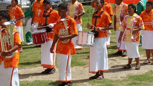High school band on Teachers' Day