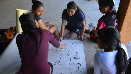 Campers participate in educational activities at Campamento Lucero.