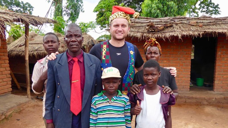 Conor with his homestay family