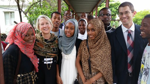 Director Carrie Hessler-Radelet meets with Peace Corps Comoros Volunteers and counterparts.