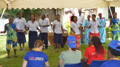 Infectious Diseases Institute Drama group performs