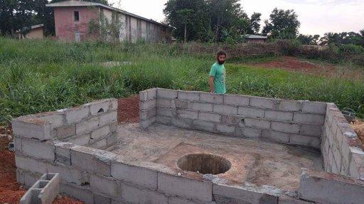 The well was gradually taking shape