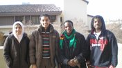 Francis Phiri with friends