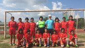 Girl Soccer Team from Volunteer Connor's school