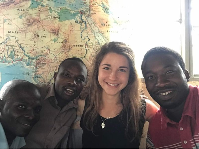 Lia pictured with 3 of her colleagues