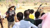 Education Volunteer Andrew teaches about conservation.