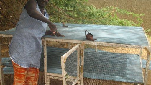 Senegal Woman Building Coop