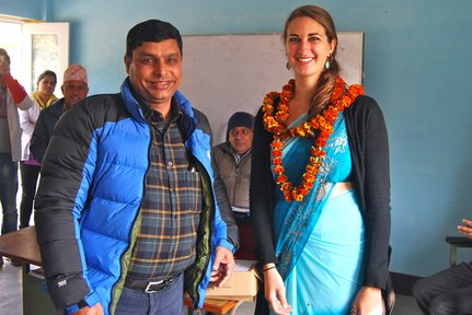 Rachel with her government counterpart, Jhabindra Neupane.