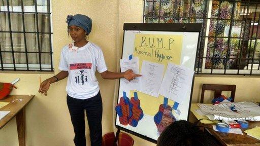 Menstrual hygiene management training