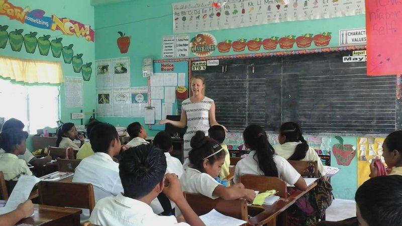 Lauren teaching