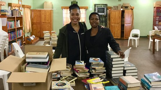 Ms.Dlamini & I with  Books for Africa