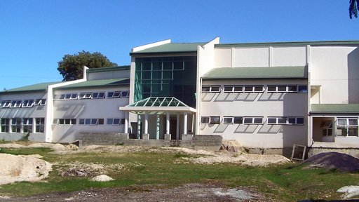 New library building in 2013 just prior to completion and grand opening
