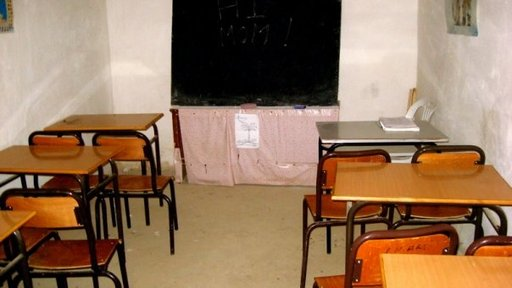 The classroom in Amizmiz where Samir had his first English lessons.