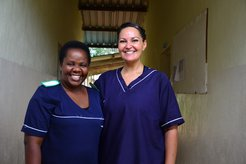 Two women in Advancing Health Professionals program