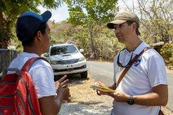 Peace Corps Response Volunteer meets counterpart in Panama