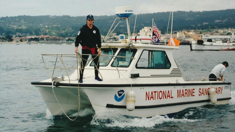 Pat Cotter on the NOAA Patrol Boat SHARKCAT