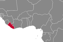 Liberia Country Map