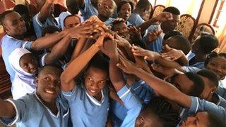 Midwifery students in Tanzania.