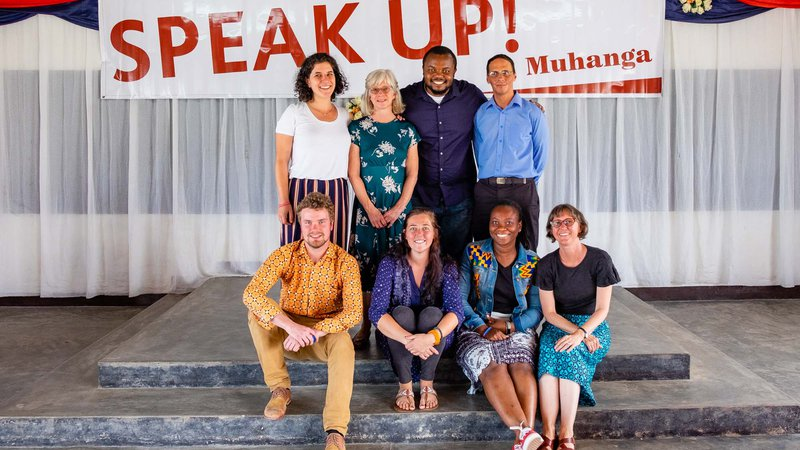 Group photo of Peace Corps Volunteers who participated in Speak Up! 2019