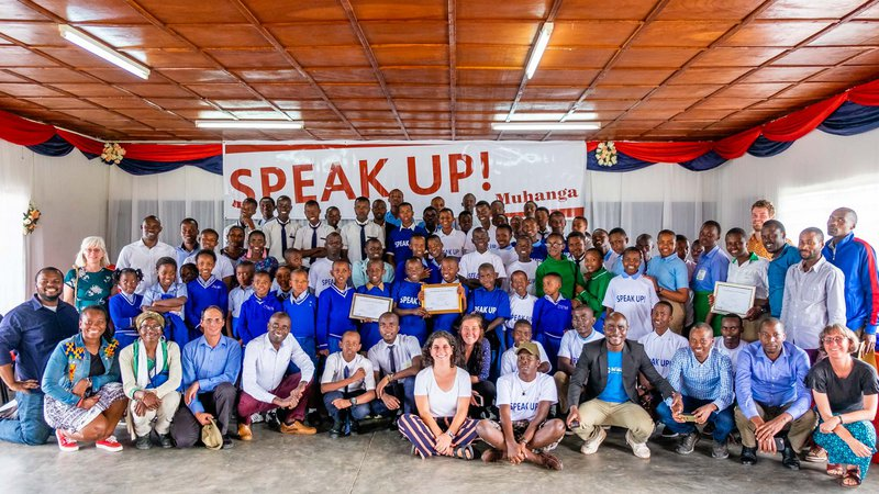 Group photo at Speak Up! 2019