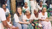 Peace Corps Volunteers with village elders