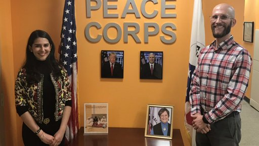 Tsvetta Kaleynska Pictured With Peace Corps Recruiter Michael Kunkel
