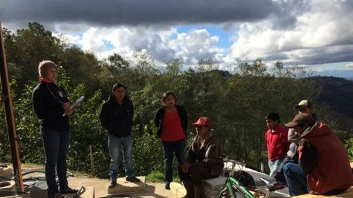 Peace Corps Response Volunteers and local farmers in Guatemala discuss the benefits of good agricultural practices.