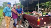 This was when the PC Country Director came to visit me in-site, and he bought me fruit from the vegetable trucknter alt text