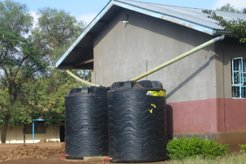 The new water tanks installed