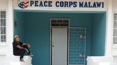 Janet at the Peace Corps office in Malawi