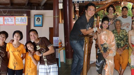 With my host family during PST in 2011 and before I went home in 2013