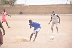 talibe playing soccer
