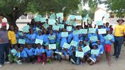 Youth celebrate completing their Grassroot Soccer program