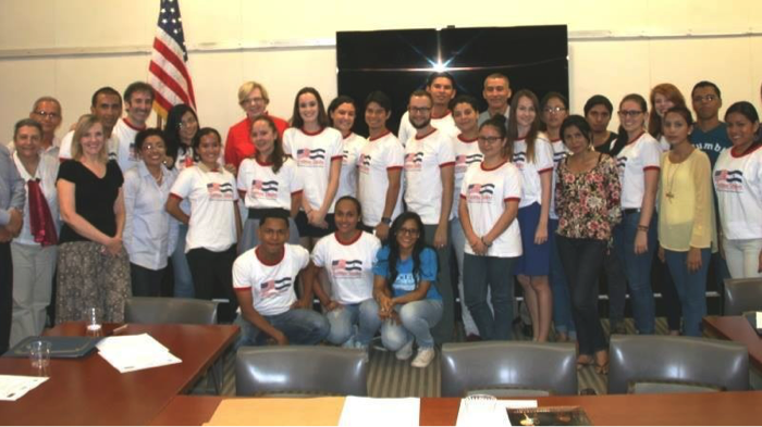 Peace Corps Nicaragua Volunteers Tim Kruth and Evelyn Cervantes, Peter Hach (Volunteer Support APCD) with other participants