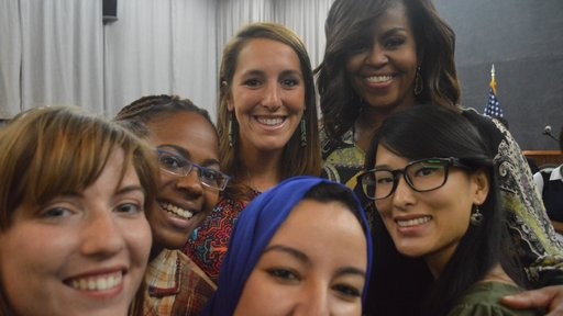 Selfie with First Lady Michelle Obama