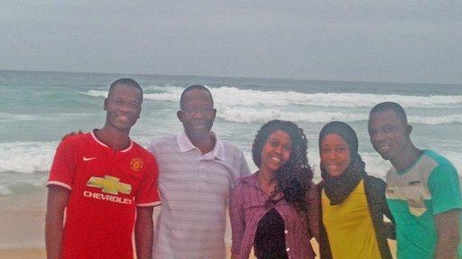 Hamidou Sakhanokho and his family