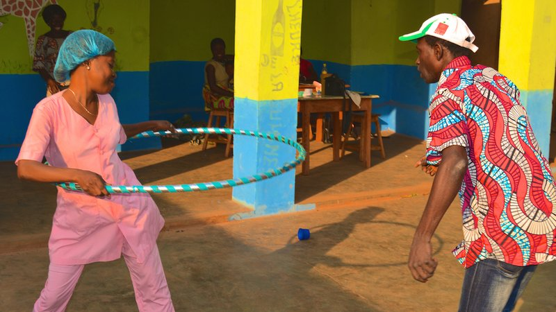 Hula hooping for HIV awareness