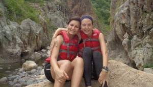 Char and Jen spending a day swimming and hiking through Somoto Canyon, Nicaragua.