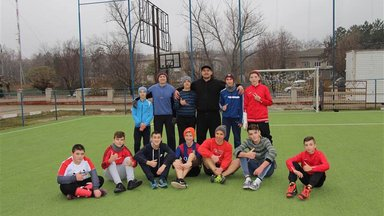 """The team from the NGO """"Healthy City"""" hosts free soccer events for local youth."""