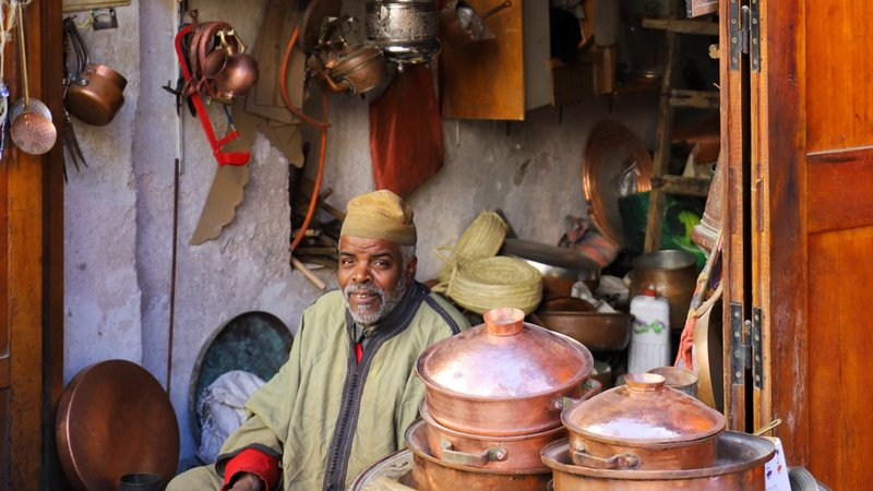 Morocco copper worker