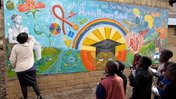 Primary school mural in Lesotho
