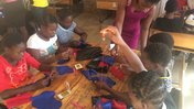 making reusable menstrual pads in South Africa