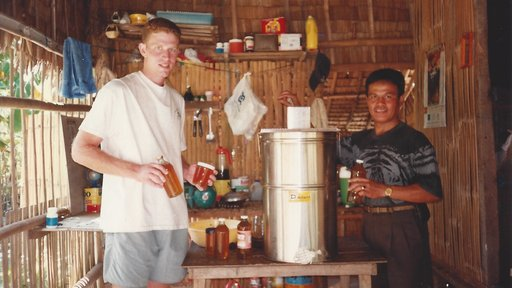 David Schopler served with the Peace Corps in the Philippines before he became an officer in the SEAL Teams, where he current