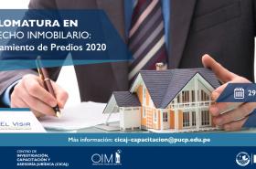 """El Centro de Investigación, Capacitación y Asesoría Jurídica (CICAJ) apertura la """"Diplomatura en Derecho Inmobiliario: Saneamiento de Predios 2020""""."""