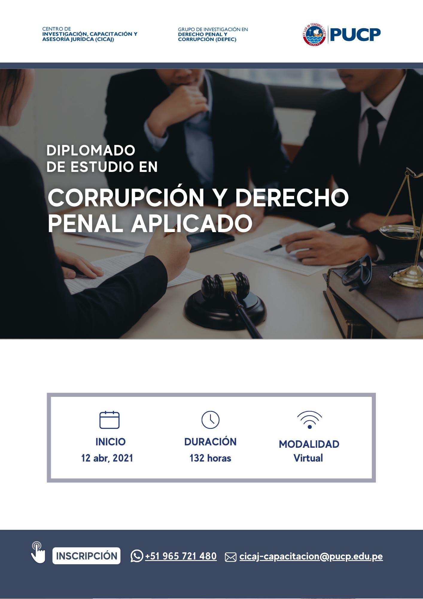 Diplomado de Estudio en Corrupción y Derecho Penal Aplicado
